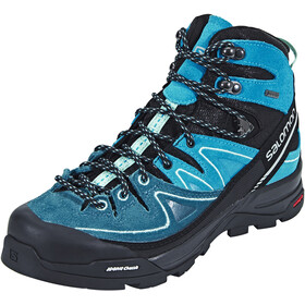 Salomon X Alp LTR GTX Hiking Shoes Women Black/Hawaiian Ocean/Aruba Blue